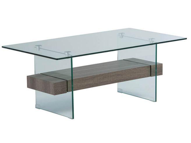Alto Glass Coffee Table Grey Oak