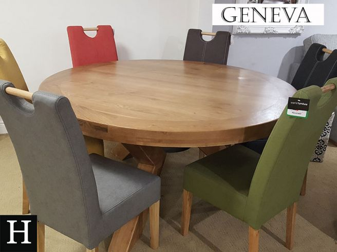 Geneva Round Table 1 6m 6 Kensington, Round Dining Room Tables For 6