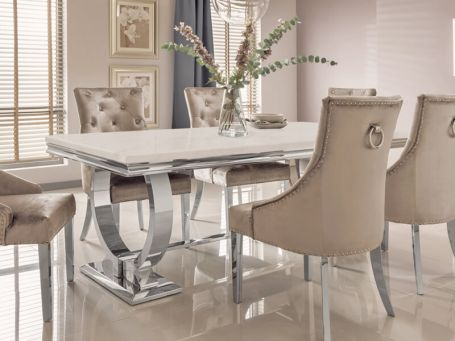 Dining, Cream Coloured Dining Table And Chairs