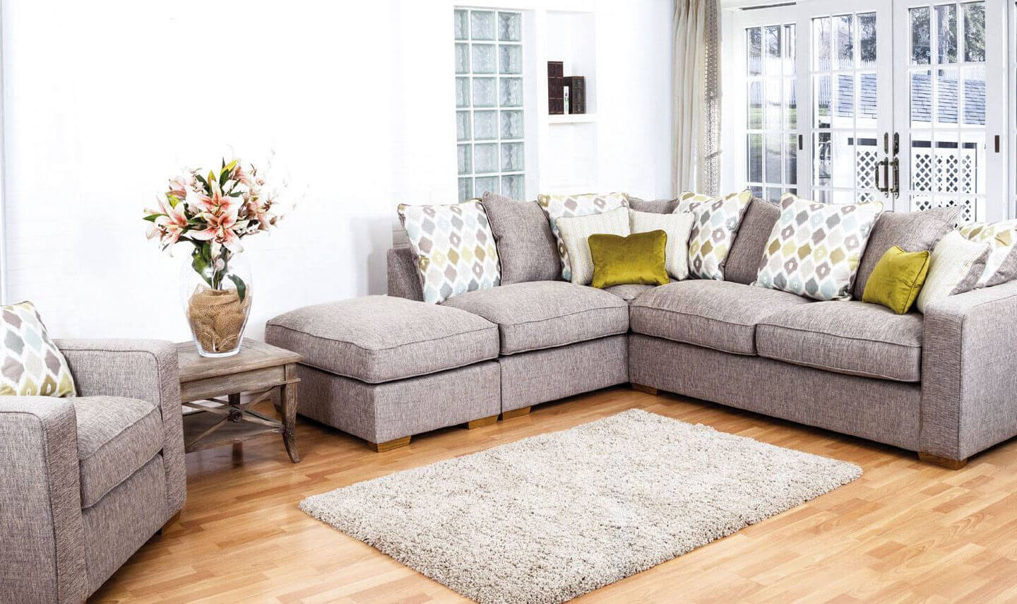 Picture of: Chicago Fabric Corner Sofa